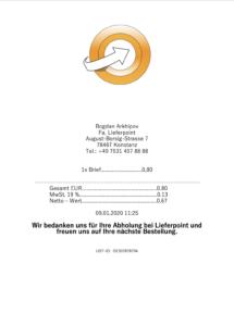 Beleg Lieferpoint